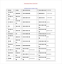 10+ Free Download Morse Code Chart Templates in Word ...