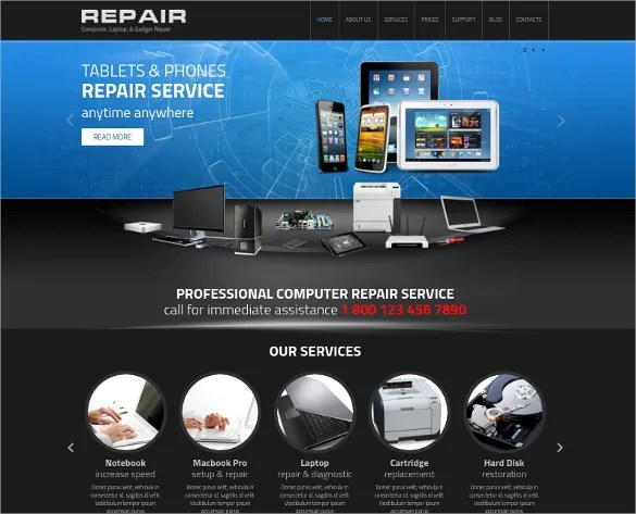 25 Computer Repair Website Themes & Templates Free