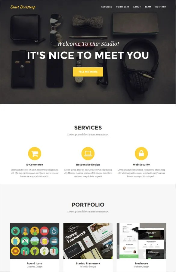 25 Single Page Website Themes & Templates Free