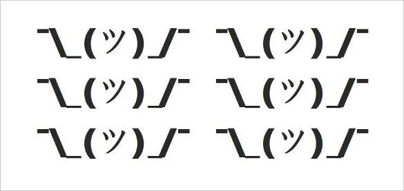 14 shrugging emoji a