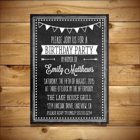 pictures on birthday invitation