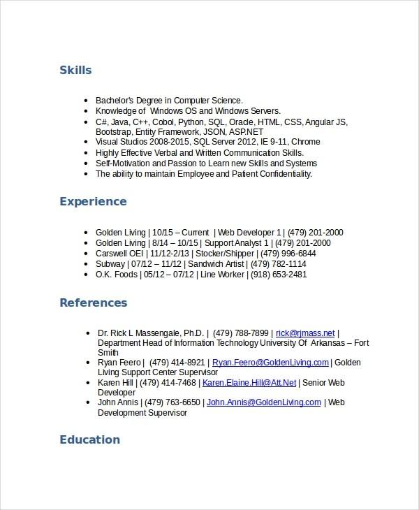 5 Stocker Resume Templates PDF DOC Free & Premium
