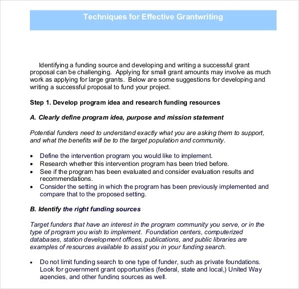 Grant Writing Template – 8 Free Word PDF PPT Documents