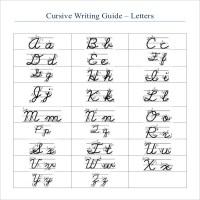Cursive Writing Alphabet Worksheets Pdf - handwriting ...