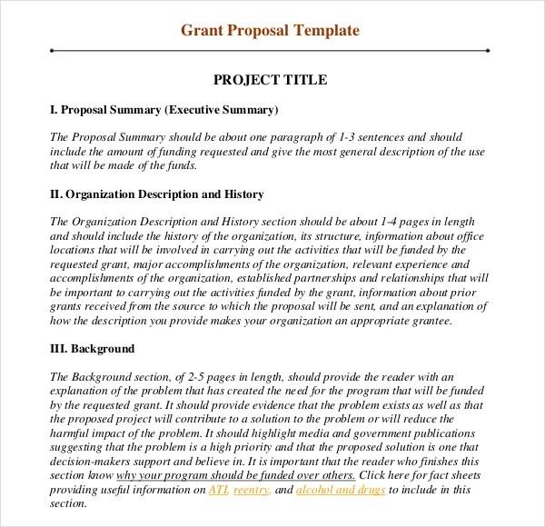 Grant Proposal Format Calgi Seattlebaby Co