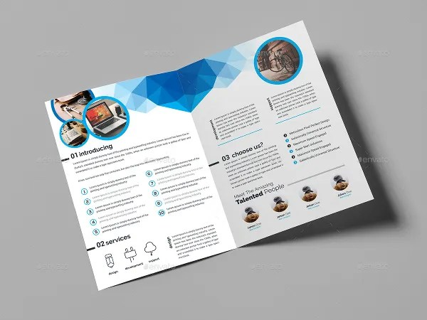 32 Beautiful Examples Of Bi Fold Brochures To Inspire You! Free