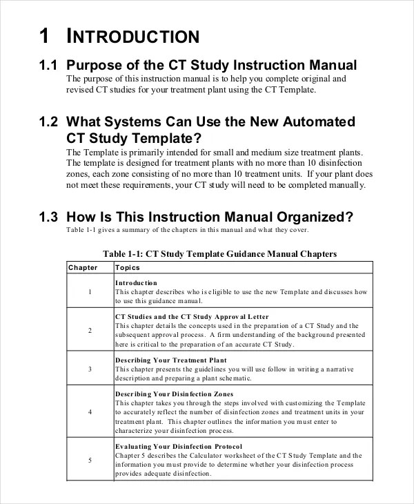 instructions template
