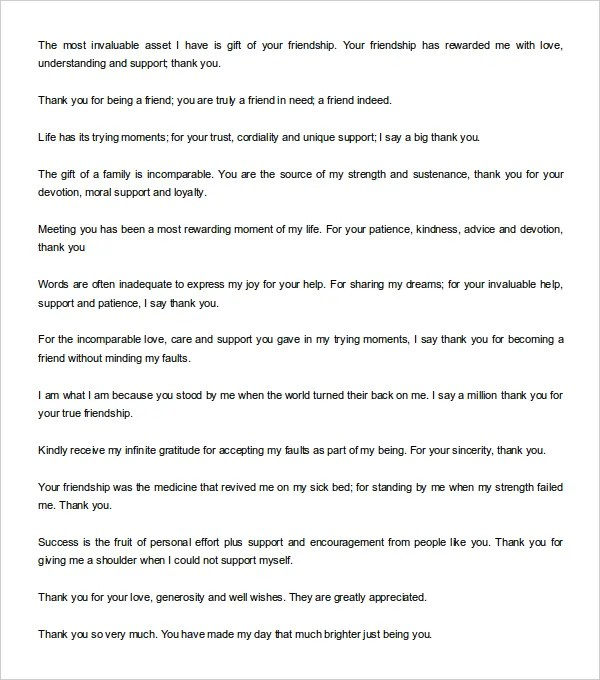 12 thank you note