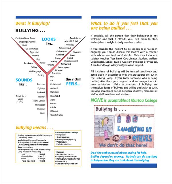 12 Bullying Brochure Templates AI PSD Google Docs