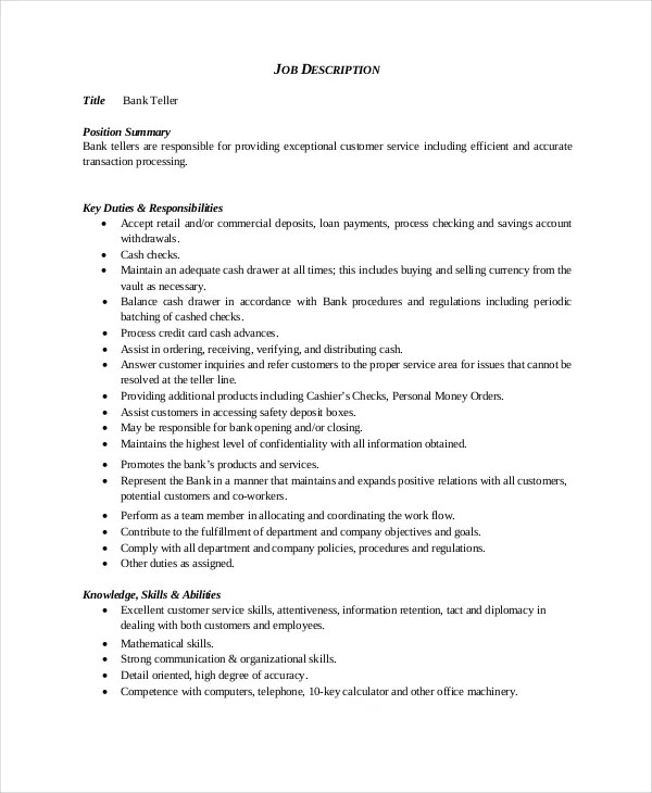 Bank Teller Resume Bank Teller Resume Sample Writing Tips Resume