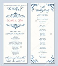 25+ Wedding Program Templates - Free PSD, AI, EPS Format ...