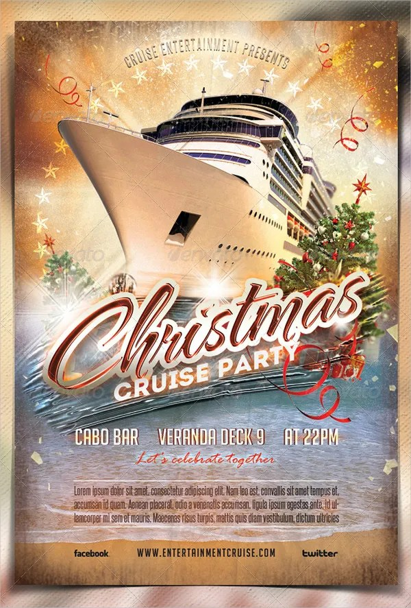 16 Cruise Flyers Free PSD AI EPS Format Download
