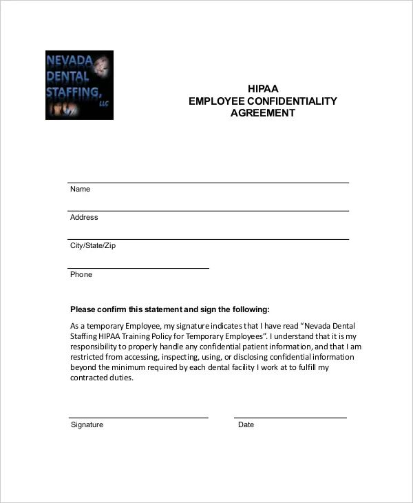 hipaa templates forms