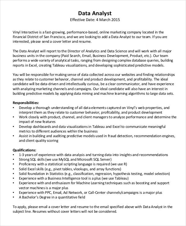 examples of effective cover letters