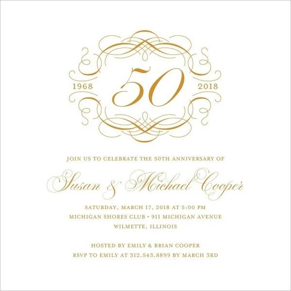 23 Wedding Anniversary Invitation Card Templates  Word PSD AI InDesign  Free  Premium
