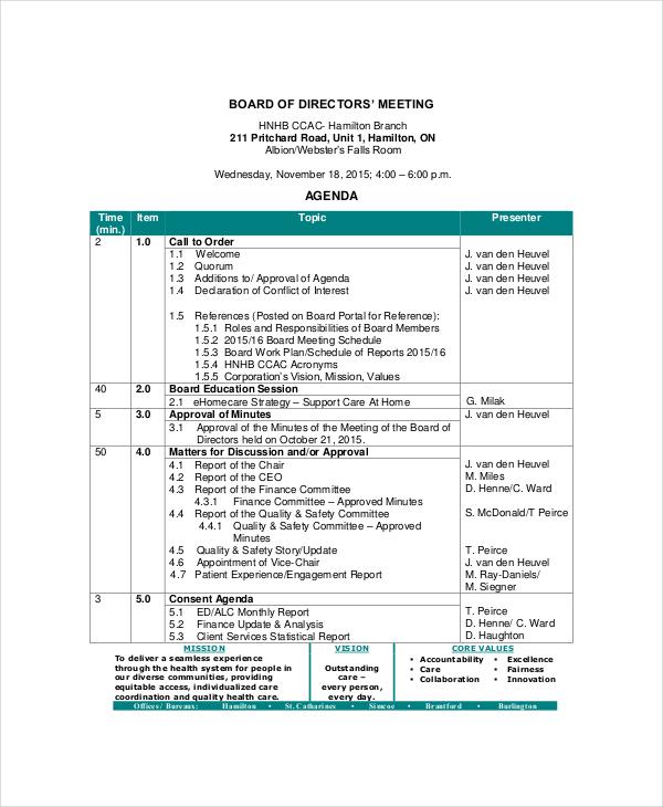 Hoa Meeting Agenda Resume Examples Resume Template