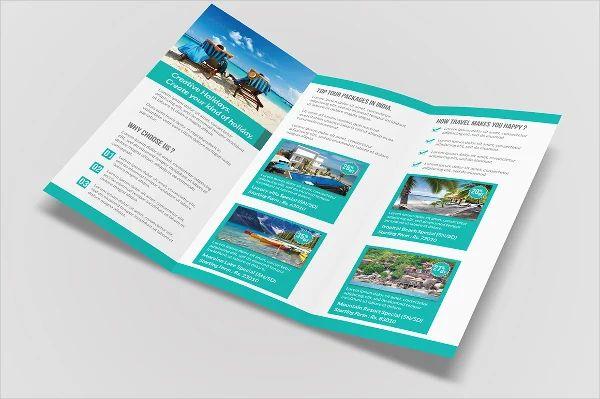 trifold travel brochure