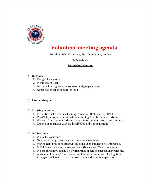 Microsoft Meeting Agenda Template – 10 Free Word PDF
