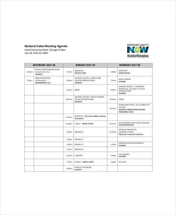 In this blog post, we talk about the need to set clear meeting agendas,. Sales Meeting Agenda Template 11 Free Word Pdf Documents Download Free Premium Templates