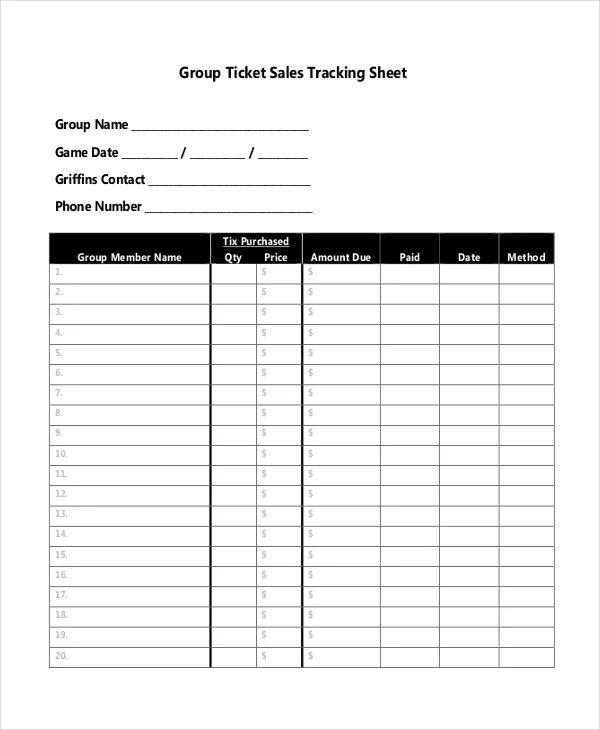 free sales tracking spreadsheet template