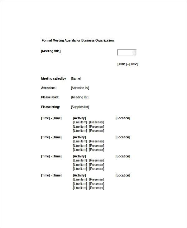 formal agenda template sample of llc operating agreement template