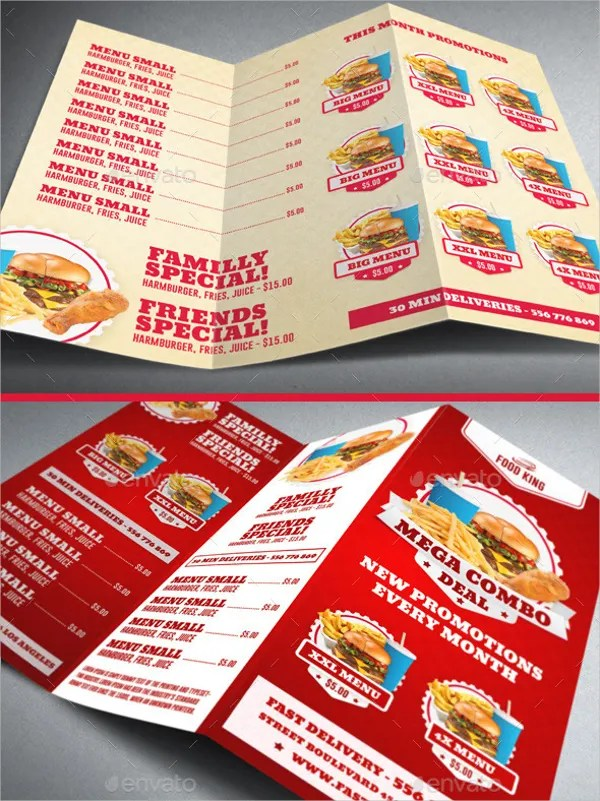 13 Fast Food Brochures Free PSD AI EPS Format