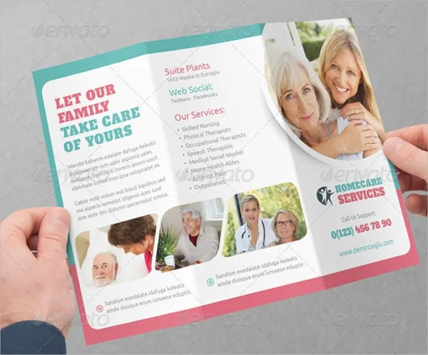 Home Care Brochure Template Ideal Vistalist Co