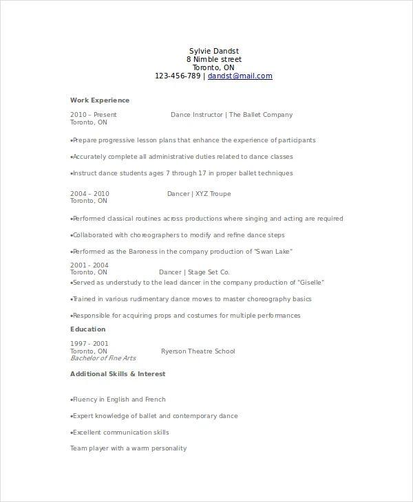 resume template for student teacher