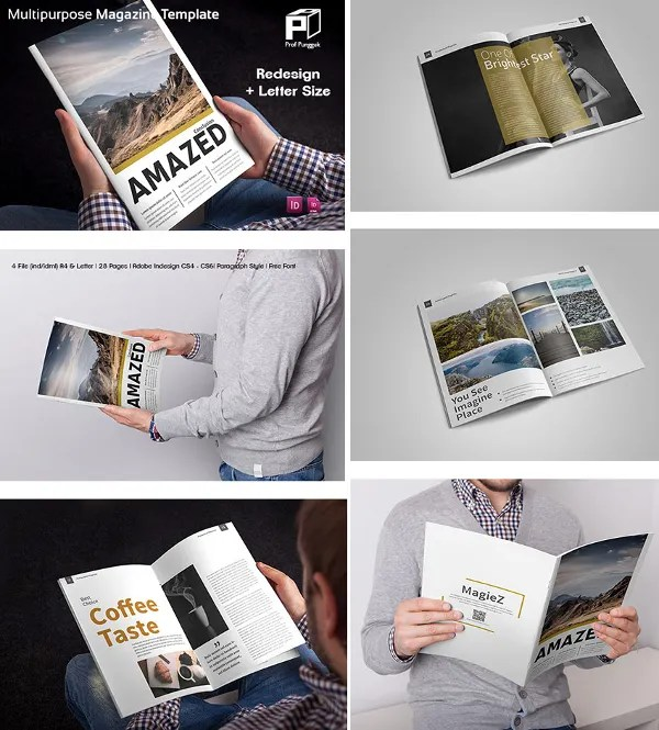 30 Creative Magazine Print Layout Templates for Free