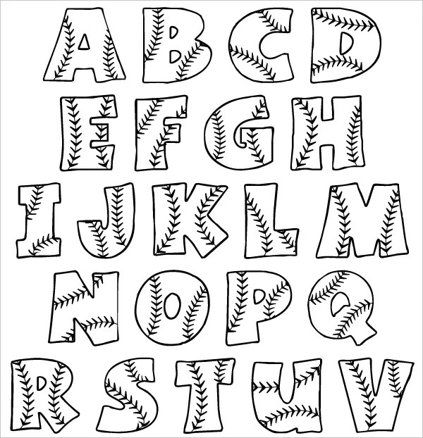 bubble letters printable