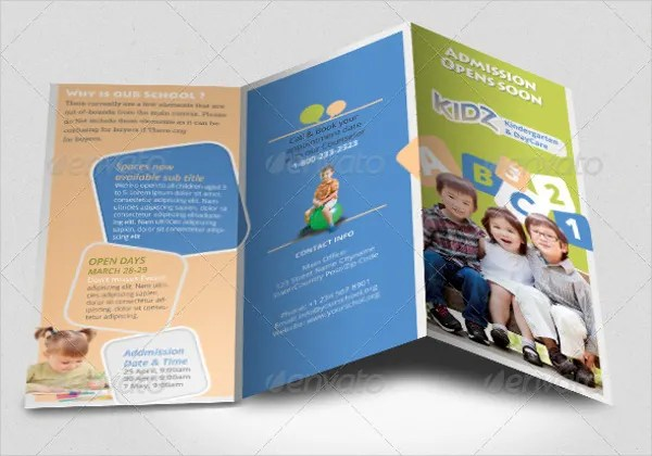 21 Preschool Brochure Free PSD AI EPS Format Download