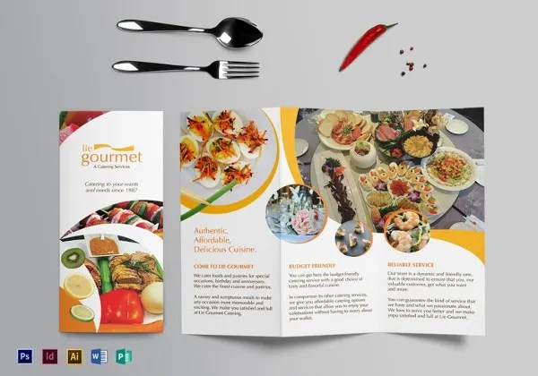 20 Food Brochure Templates Free PSD EPS AI Format