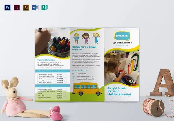 21 Preschool Brochure Free PSD AI EPS Format Download