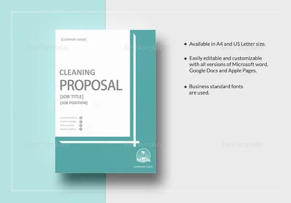 Cleaning Proposal Letter Lawn Care Contract Forms