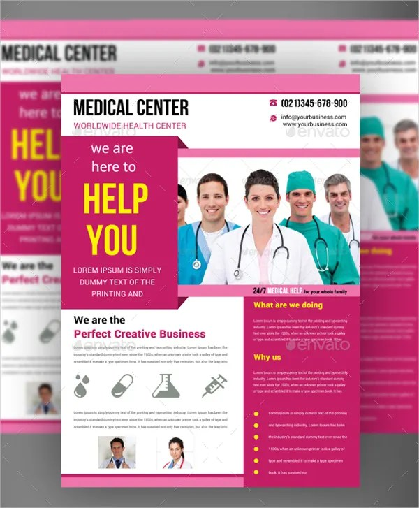 23 Medical Flyer Templates PSD AI EPS Free