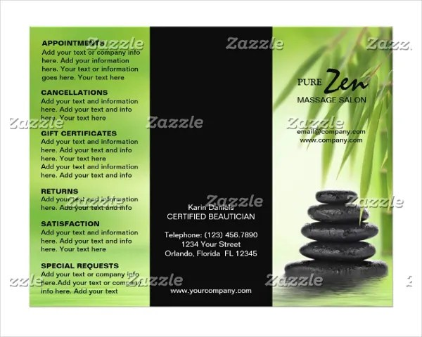 19 Massage Brochure Templates Free PSD AI EPS Format Download