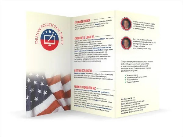 14 Political Brochure Templates Free PSD AI EPS Format Download
