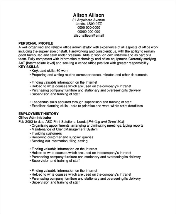 Forklift Resume Template 6 Free Word PDF Document Downloads