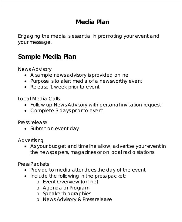 Advertising Plan Template 7 Free Word Excel PDF