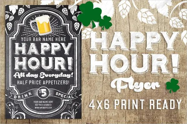 happy hour flyer template free