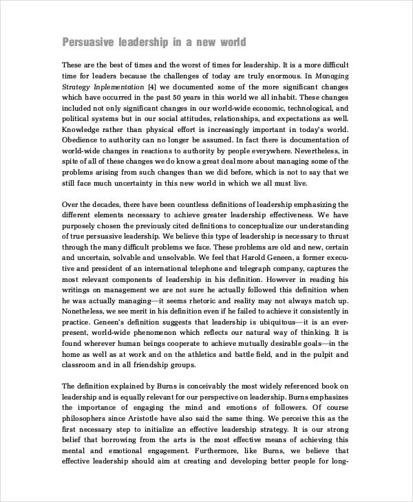 personal leadership philosophy essay | Docoments Ojazlink