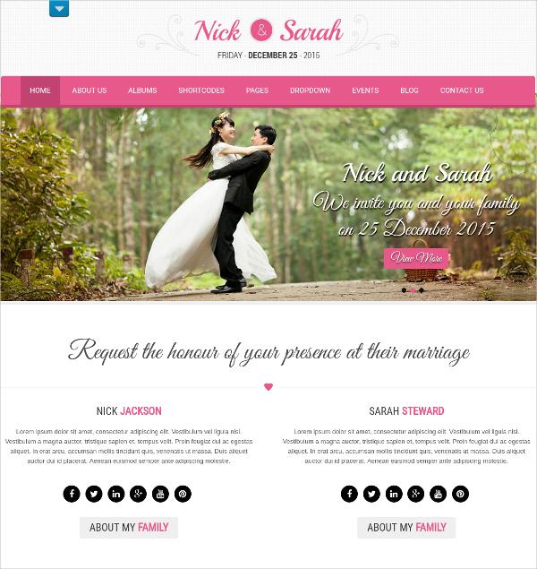 37 Free Wedding Website Themes  Templates  Free  Premium Templates