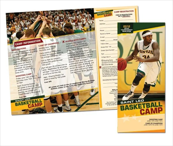 16 Basketball Camp Brochures Free PSD EPS AI Format Download