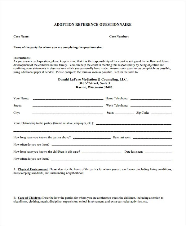 Sample Character Reference Letter For Single Mother