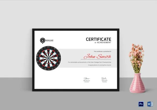 31 Sports Certificate Templates Word PDF AI InDesign Format Free Premium Templates