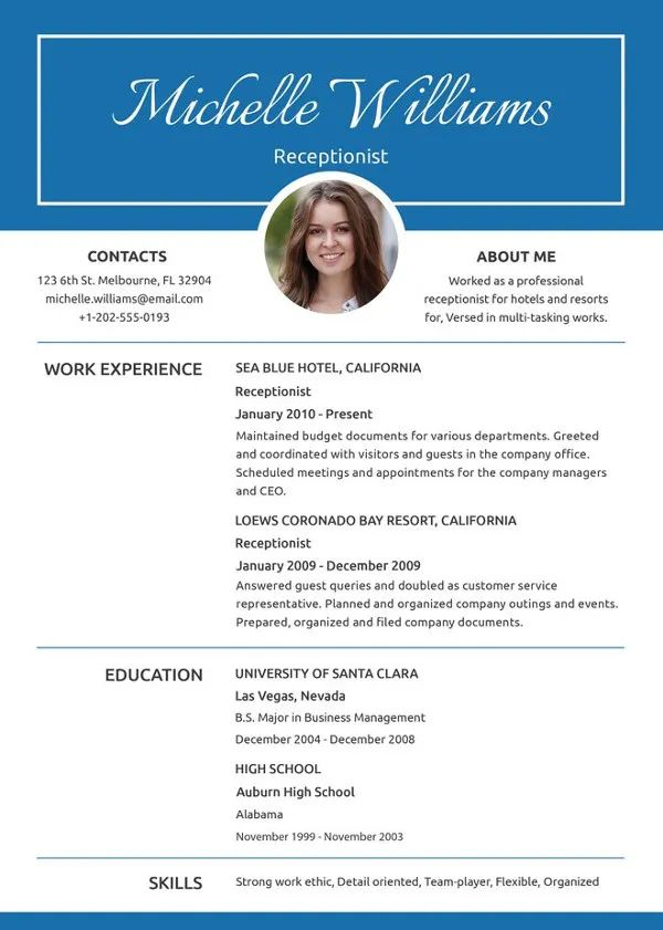 download word document resume template