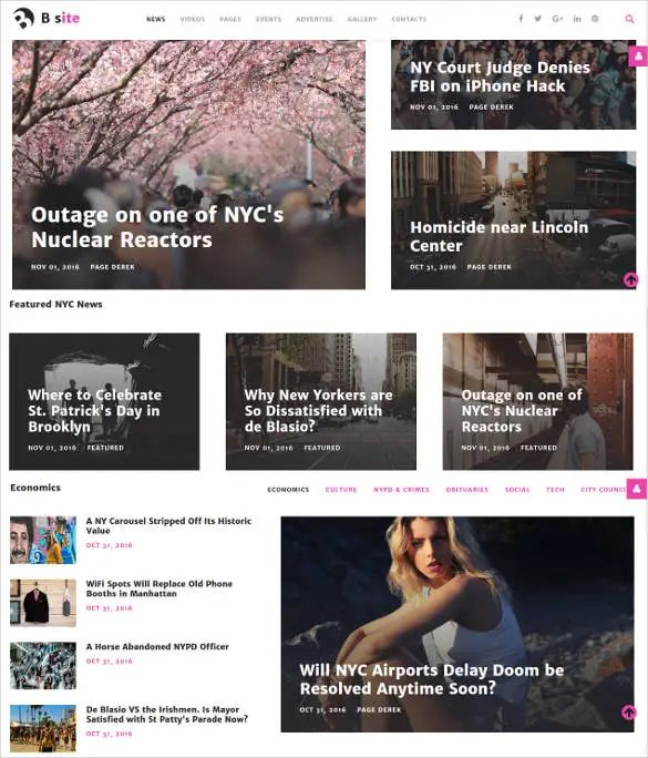 bootstrap template social network