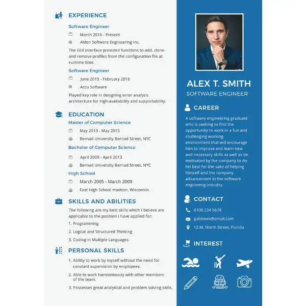 pdf sample of fresher electrical engineer resume