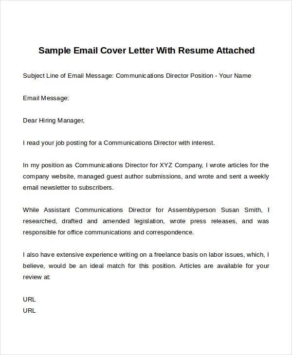 14 Cover Letter Templates  Free Sample Example Format