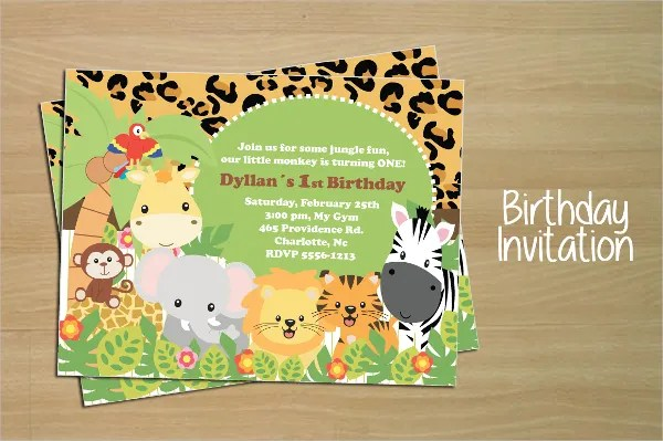 animal birthday invitation templates